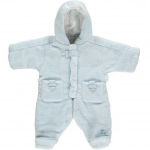 Fargo Pale Blue Fleece Pram Suit