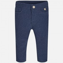 Girls Fleece Leggings - Indigo (2791)