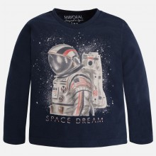 Boys Space Dream Top - Silver (4013)