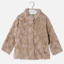 Girls Faux Fur Coat - Mink (4461)