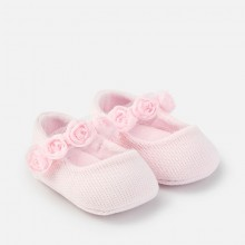 Girls Flower Shoes  - Rose (9636)