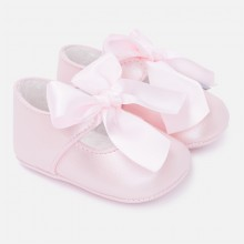 Girls Ribbon Shoes - Pink (9639)