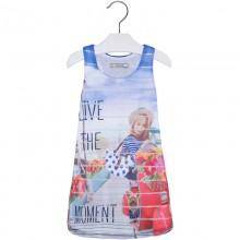 Blue Girl Print Dress (3998)