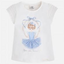 Girl Applique Dress T-Shirt - Light Blue (3055)