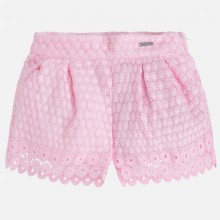 Girls Guipure Lace shorts - Orchid (3261)