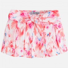 Girls shorts with floral print & bow (3285)