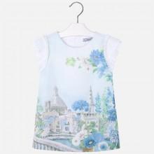 Girls Landscape dress - Lightblue (3949)