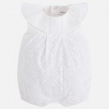 Embroidered Romper - White (1638)