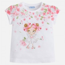 Short Sleeve Doll T-shirt - Rose (3016)