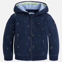 Embroidered Fleece Hoodie  - Navy (3466)