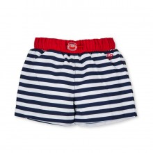 Boys Swim Shorts - Navy/White stripe (2871)