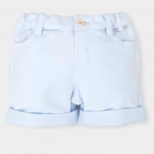 Pale Blue Shorts with Cuff (4313)
