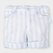 Pale Blue and White Stripe Shorts (4317)