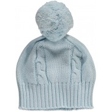Fuzzy - Pale Blue Bobble Hat