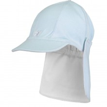 Aspen - Pale Blue Suncap with Detachable Flap