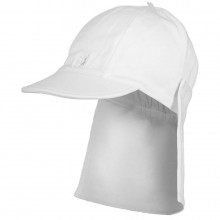 Aspen - White Suncap with Detachable Flap (4632)