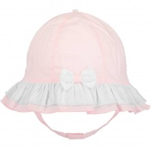 Gabby - Pink Sunhat with Chin Strap (4749)