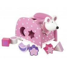 Pink Mouse Shape Sorter