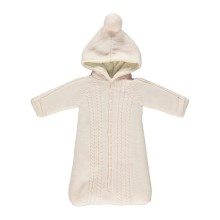 Pink Knitted Sleep Bag with Fur Lining - (03372L)
