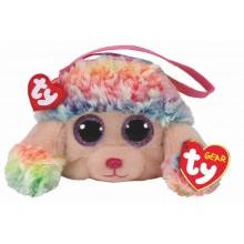 Rainbow Poodle Wristlet