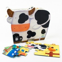 Silhouette Puzzle - The Cows on the Farm