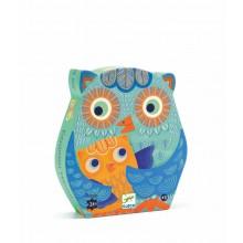 Silhouette Puzzle - Hello Owl