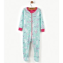 Infant Footed Coverall -Arctic Party