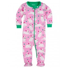 Infant Footed Coverall - Spring Bunnies