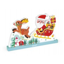 Magnetic Vertical Puzzle - Santas Sleigh