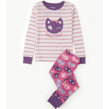 PJ Set - Applique Silly Kitties