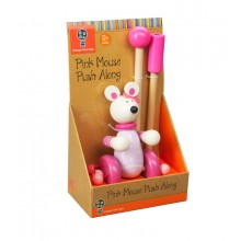 Boxed Push along - Pink Mouse