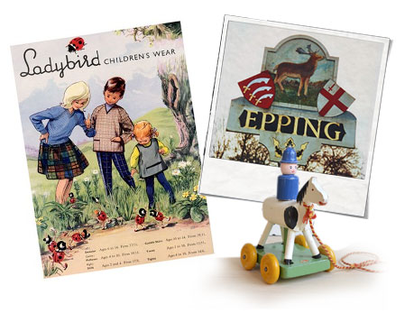 vintage toys, wooden toys, ladybird books, children's books