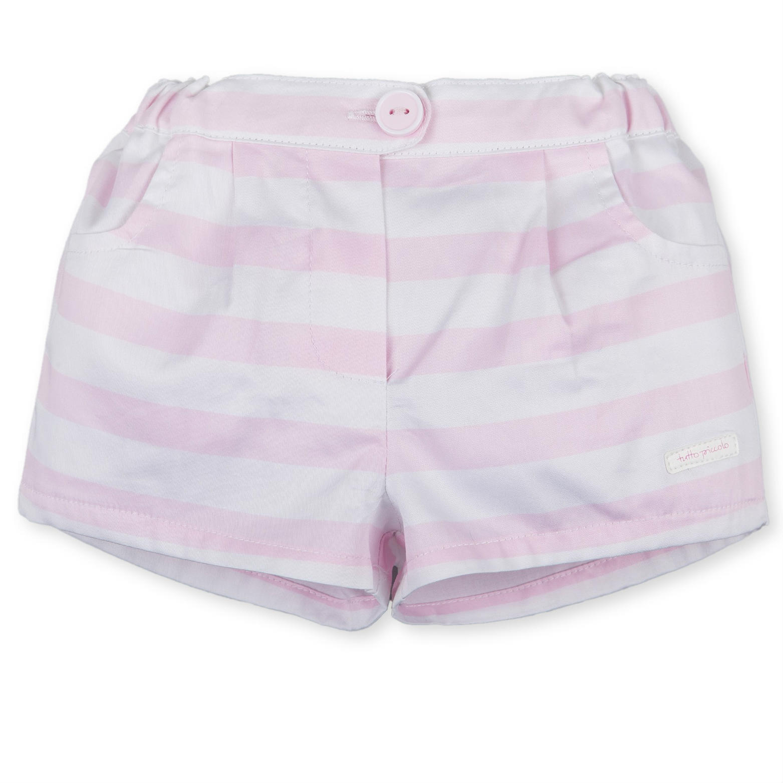 0b41513ab3d0 Baby Girls Pink Stripe Shorts (2726)