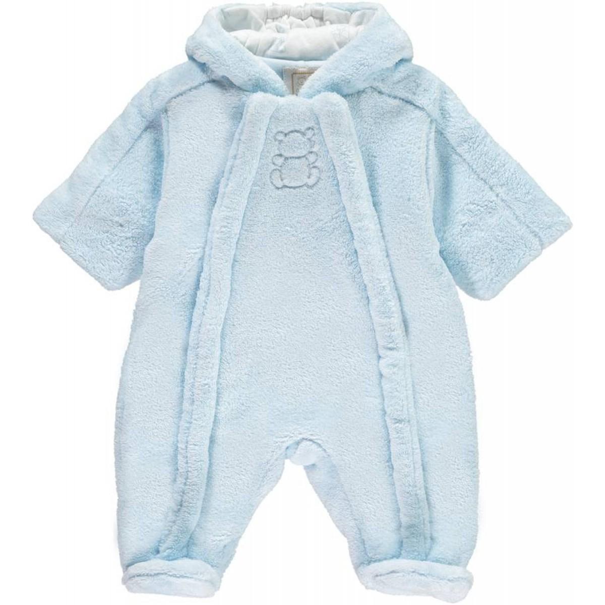 a2dfd7b4e7f5 Nolan -Pale Blue Fleece Pramsuit