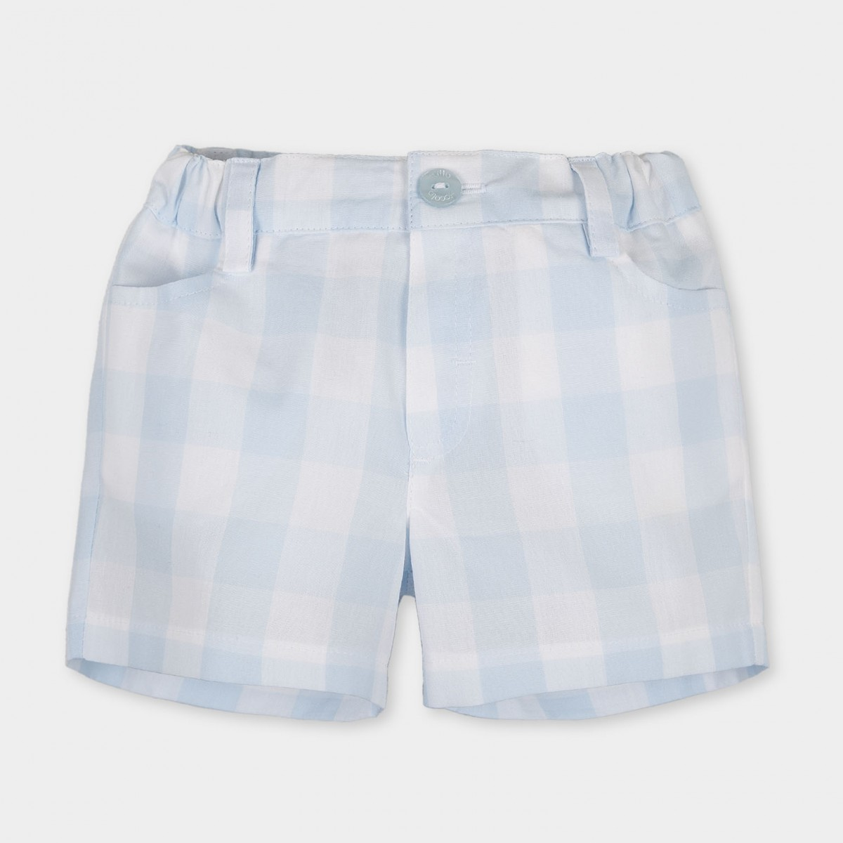 6ccaca3aa89f Tutto Piccolo Boys Checked shorts - Pale Blue (2313)