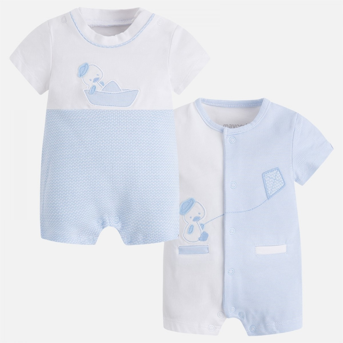 73d10b841e3a Set of Two Blue Duck Printed Rompers (1724)