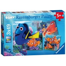 Disney Finding Dory - 3x Puzzle Pack