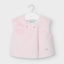Infant Girls Faux Fur Gilet 2363 (Pink)
