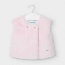 Infant Girls Faux Fur Gilet 2363 (Pink)