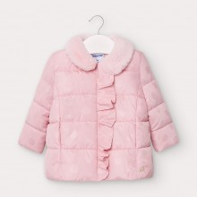 Infant Girls Coat with Faux Fur Collar 2410 (Pink)