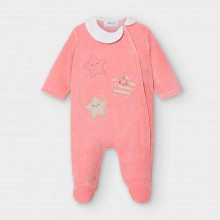 Pink Babygrow with Star Motifs 2754 (Pink)