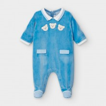 Babygrow with Teddy Motifs 2767 (Blue)