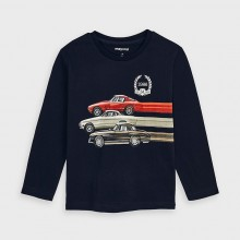 Boys Long Sleeve Top - Cars 4038 (Navy)