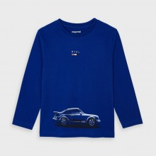 Boys Long Sleeve Top - Car 4046 (Blue)
