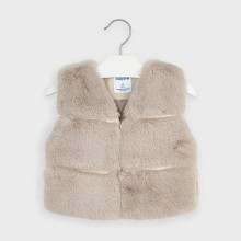 Girls Faux Fur Gilet 4351 (Cream)