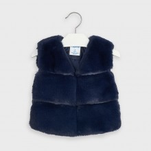 Girls Faux Fur Gilet 4351 (Navy)