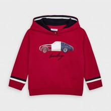 Boys Hoodie with Car Print 4461 (Red)