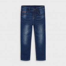 Boys Soft Denim Trousers 4531 (Navy)
