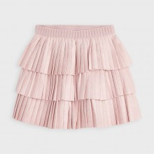 Girls Soft Pleated Skirt 4958 (Pink)