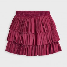Girls Soft Pleated Skirt 4958 (Cherry)
